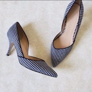 j. crew collet houndstooth d'Orsay pumps